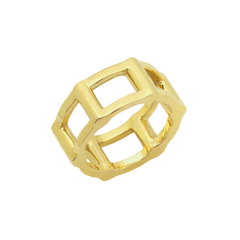 Half Cage Ring | Gold