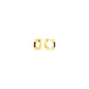 Black Diamond Cage Huggies | Yellow Gold