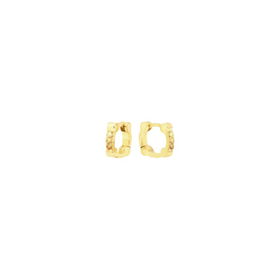 Yellow Sapphire Cage Huggies | Yellow Gold