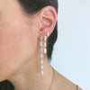 7 Tiered All Diamond Marquis Earrings | Rose Gold