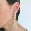 5 Tiered All Diamond Marquis Earrings | Yellow Gold