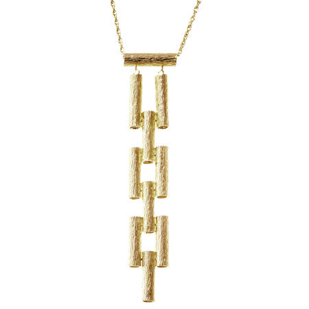 Ladder Necklace | Gold