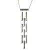 Ladder Necklace | Silver Plated Brass