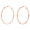 Large Cage Hoops with Diamonds on the Facets | Rose Gold
