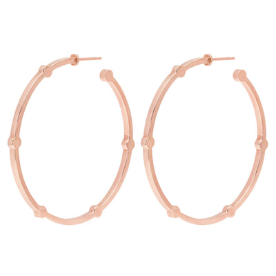Large Cage Hoops | Rose Gold