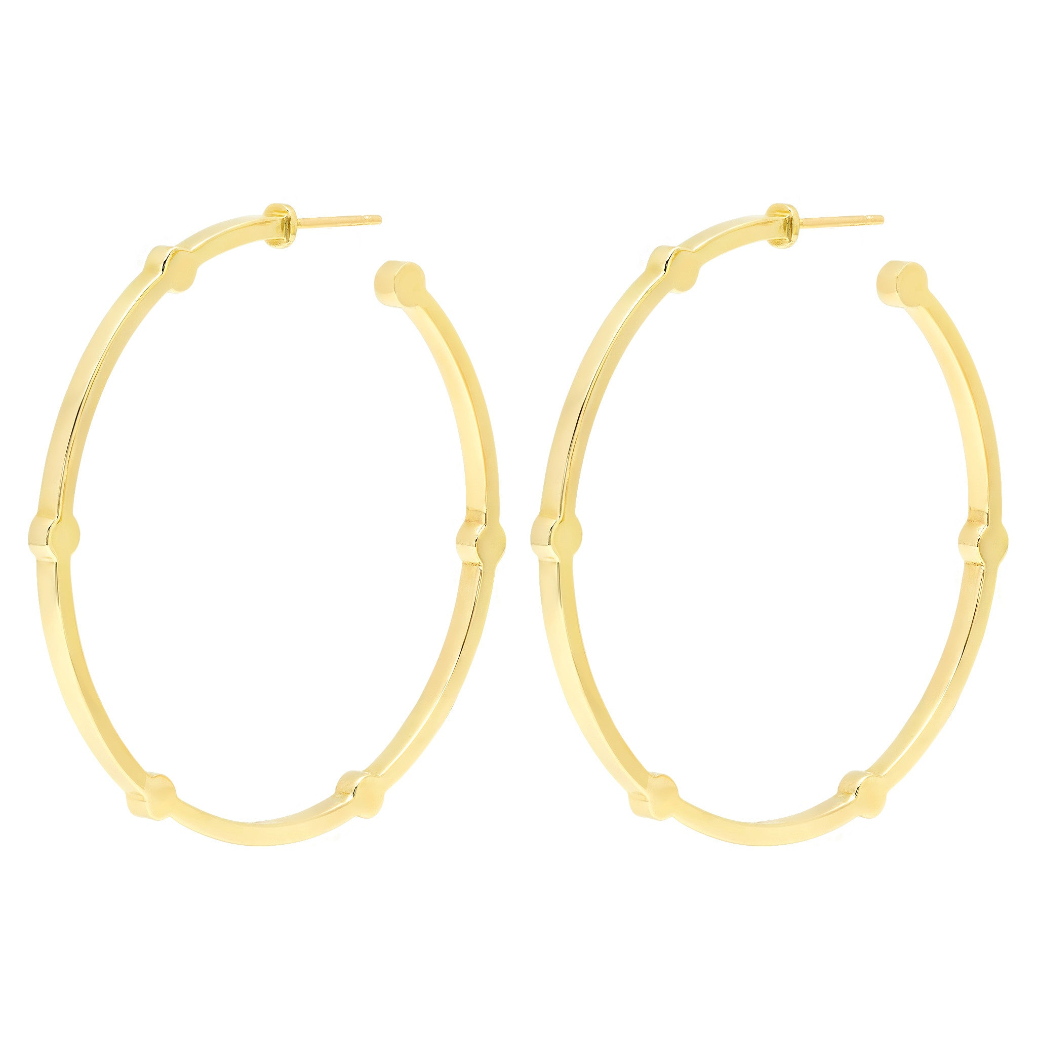 Large Cage Hoops | 14K Gold