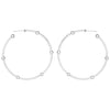 Large Cage Hoops with Diamonds on the Facets | White Gold