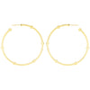 Large Cage Hoops | Yellow Gold