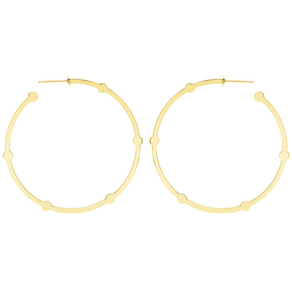 Large Cage Hoops | Gold