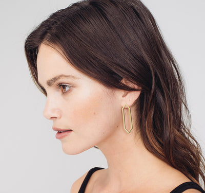 Large Marquis Earrings | Yellow Gold