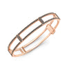 Locking Cage Bracelet | Rose Gold with All Black Diamonds