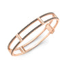 Locking Cage Bracelet | Rose Gold with Black Diamonds on Lateral Bars