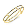 Locking Cage Bracelet | Yellow Gold with Black Diamonds on Lateral Bars