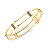 Locking Cage Bracelet | Yellow Gold with Black Diamond Posts