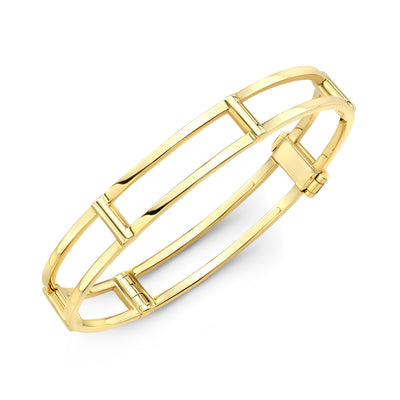 Locking Cage Bracelet | Yellow Gold
