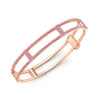 Locking Cage Bracelet | Rose Gold with All Pink Sapphires