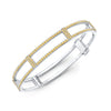 Locking Cage Bracelet | White Gold with All Yellow Sapphires