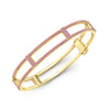 Locking Cage Bracelet | Yellow Gold with All Pink Sapphires