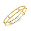 Locking Cage Bracelet | Yellow Gold with All Yellow Sapphires