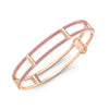 Locking Cage Bracelet | Rose Gold with Pink Sapphires on Lateral Bars