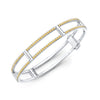 Locking Cage Bracelet | White Gold with Yellow Sapphires on Lateral Bars