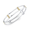 Locking Cage Bracelet | White Gold with Yellow Sapphire Posts