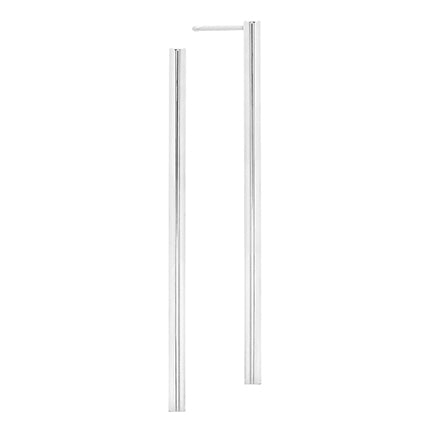 Long Line Earring | White Gold