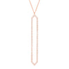 All Diamond Marquis Lariat | Rose Gold  Necklace Rachel Katz Jewelry