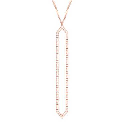Diamond Marquis Lariat | 14K Rose Gold