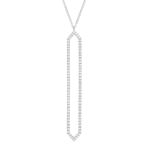 Diamond Marquis Lariat | White Gold