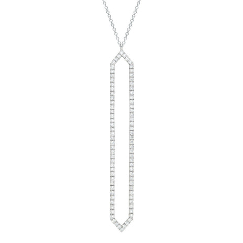 Diamond Marquis Lariat | 14K White Gold