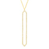 All Diamond Marquis Lariat | Yellow Gold  Necklace Rachel Katz Jewelry