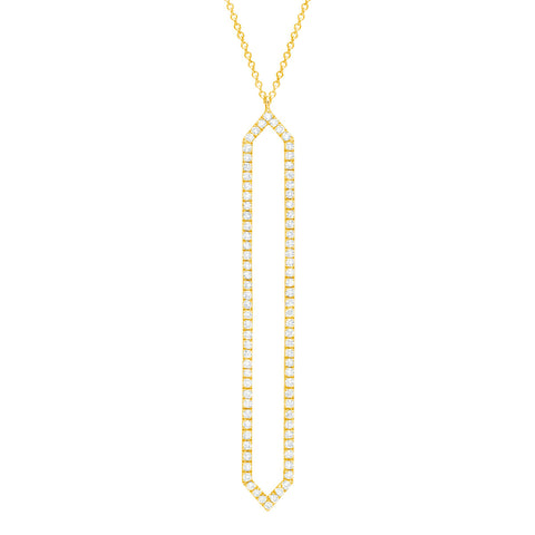 Diamond Marquis Lariat | 14K Gold