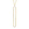 Marquis Lariat | Yellow Gold with Diamonds on Points