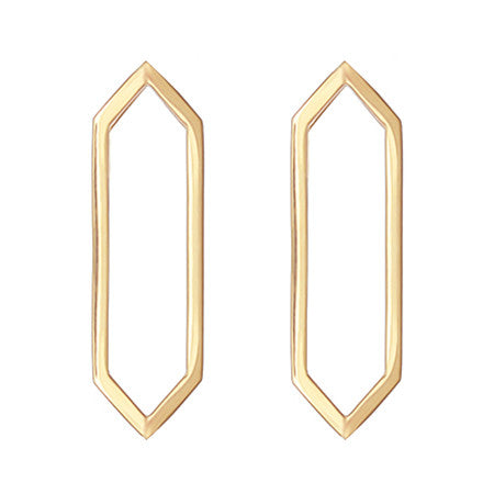 Marquis Earrings | 14K Yellow Gold