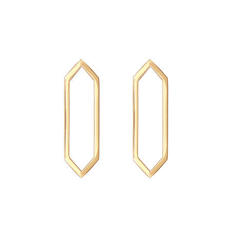 Medium Marquis Earrings | 14K Yellow Gold