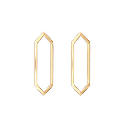 Medium Marquis Earrings | Yellow Gold