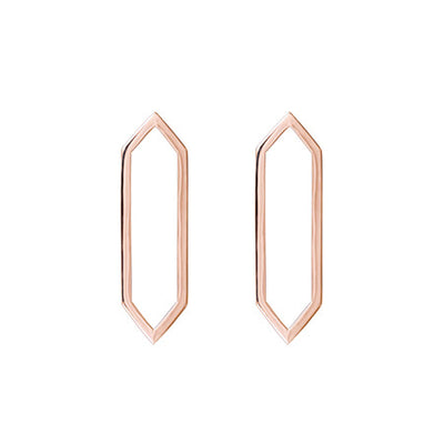 Medium Marquis Earrings | Rose Gold