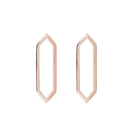 Medium Marquis Earrings | 14K Rose Gold
