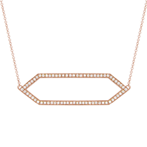 Diamond Marquis Necklace | 14K Rose Gold