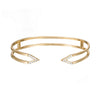Diamond Dagger Cuff  | Yellow Gold