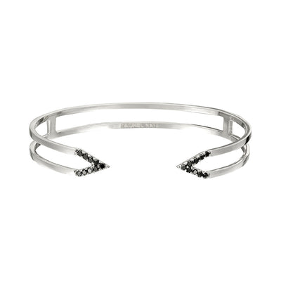 Black Diamond Dagger Cuff | White Gold
