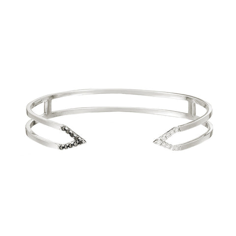 Donna Dagger Cuff  | 14K White Gold with Diamonds