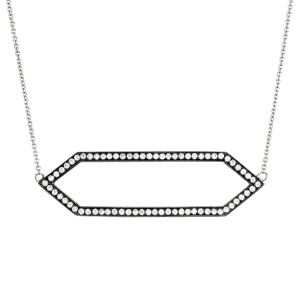 Diamond Marquis Necklace | 14K Black Gold