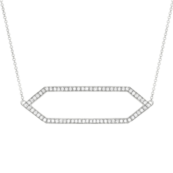 Diamond Marquis Necklace | White Gold