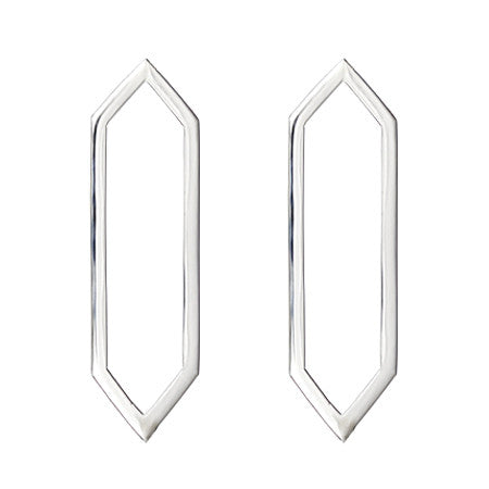 Marquis Earrings | 14K White Gold