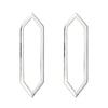 Large Marquis Earrings | White Gold