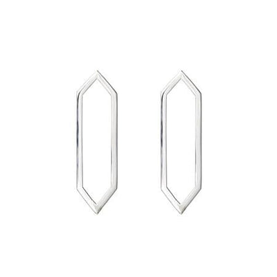 Medium Marquis Earrings | White Gold