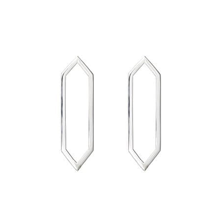 Medium Marquis Earrings | 14K White Gold