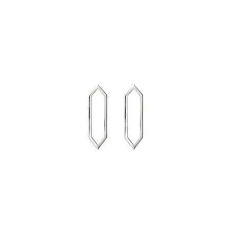 Mini Marquis Earrings | 14K White Gold